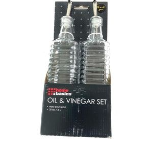 Home Basics Oil and Vinegar Glass Bottle Ser